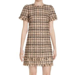heart-it bi-color tweed dress